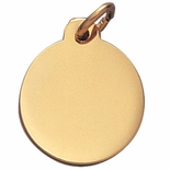 7/8 INCH POLISHED GOLD MEDAL FOR ENGRAVING