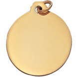 1-1/4 INCH POLISHED GOLD MEDAL