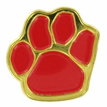 PAW PRINT PIN, RED