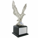 15-1/2 INCH EAGLE TROPHY,  SILVER ELECTROPLATED, 2 INCH INSERT