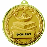 2-1/4 INCH LAMP OF LEARNING IMPRINT MEDAL, MULTIPLE COLORS