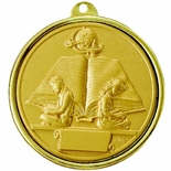 2-1/4 INCH READING ACHIEVEMENT MEDAL, MULTIPLE COLORS