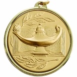 2-1/4 INCH LAMP OF LEARNING MEDAL, MULTIPLE COLORS