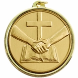 2-1/4 INCH PARTNERS IN FAITH MEDAL, MULTIPLE COLORS
