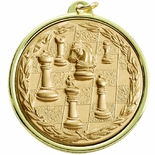 2-1/4 INCH CHESS MEDAL, MULTIPLE COLORS