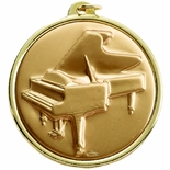 2-1/4 INCH PIANO MEDAL, MULTIPLE COLORS