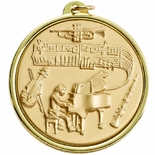 2-1/4 INCH MUSIC IN GENERAL MEDAL, MULTIPLE COLORS