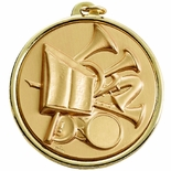 2-1/4 INCH MUSIC BAND MEDAL