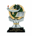 6 INCH RESIN LAMP OF LEARNING TROPHY