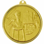 2-1/4 INCH ARTS MEDAL, MULTIPLE COLORS