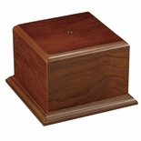 5-1/4 X 5-1/4 X 4-1/2 WALNUT FINISH CUP OR BOWL BASE