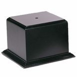 3-1/2 X 3-1/2 X 3-5/8 SATIN FINISH BLACK BASE