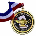IN HONOR OF ACADEMIC EXCELLENCE MYLAR MEDAL