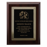 7 X 9 INCH PLAQUE WITH EMBOSSED BORDERS PLATE - COLOR OPTIONS