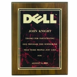 9 X 12 INCH PLAQUE WITH MARBLEIZED SCREENED PLATE - COLOR OPTIONS