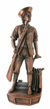 MINUTEMAN ELECTROPLATED BRONZE FIGURE, 11-1/2 INCH