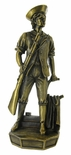 MINUTEMAN ELECTROPLATED BRASS FIGURE, 11-1/2 INCH