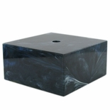 2-1/2 X 2-1/2 X 1 MARBLEIZED BLACK BASE