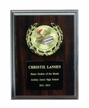 6 X 8 INCH PLAQUE WITH BLACK PLATE, PLASTIC WREATH TAKES INSERT