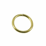 JUMP RINGS, 7/16 INCH GOLD 100PC