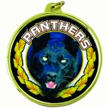 PANTHERS MASCOT MYLAR MEDAL