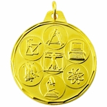 1-1/2 INCH SCIENCE GENERAL MEDAL, MULTIPLE COLORS