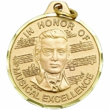 1 1/4 INCH IN HONOR OF MUSICAL EXCELLENCE MEDAL - MULTIPLE COLORS