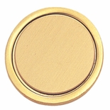 ROUND SATIN BRASS BIN, 7/8 INSERT WITH CLUTCH BACK