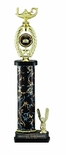 18, 19, 20 INCH ONE COLUMN TROPHY WITH EAGLE TRIM HOLDS 2 INCH INSERT