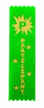 PARTICIPANT 1-5/8 X 6 GREEN STOCK RIBBON