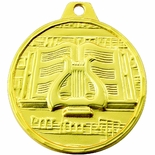 1-1/2 INCH MUSIC GENERAL MEDAL - MULTIPLE COLORS