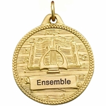 1-1/4 INCH MUSIC, LYRE AND SCROLL STOCK IMPRINT MEDAL
