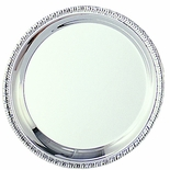 8 INCH SILVER GADROON TRAY, COOKIE PLATTER