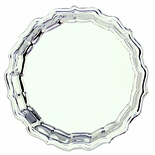 8 INCH SILVER CHIPPENDALE TRAY, COOKIE PLATTER