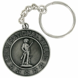 ARMY NATIONAL GUARD ANTIQUE SATIN PEWTER KEY CHAIN