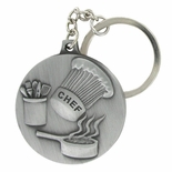 CHEF/CULINARY ARTS ANTIQUE SATIN PEWTER KEY CHAIN