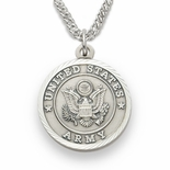 U.S. ARMY STERLING SILVER MILITARY MEDAL, 3/4 INCH
