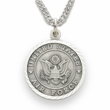 U.S. AIR FORCE STERLING SILVER MILITARY MEDAL, 3/4 INCH