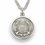 U.S. COAST GUARD STERLING SILVER MILITARY MEDAL, 3/4 INCH