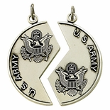 STERLING SILVER U.S. ARMY MIZPAH MEDAL NECKLACE