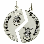 STERLING SILVER U.S. AIR FORCE MIZPAH MEDAL NECKLACE