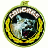 COUGARS MASCOT MYLAR MEDAL