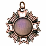 1-5/8 INCH DIE CAST MEDAL, HOLDS 7/8 INCH INSERT - MULTIPLE COLORS