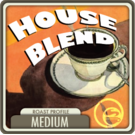 Gourmet House Decaf Coffee Blend (1/2lb Bag)