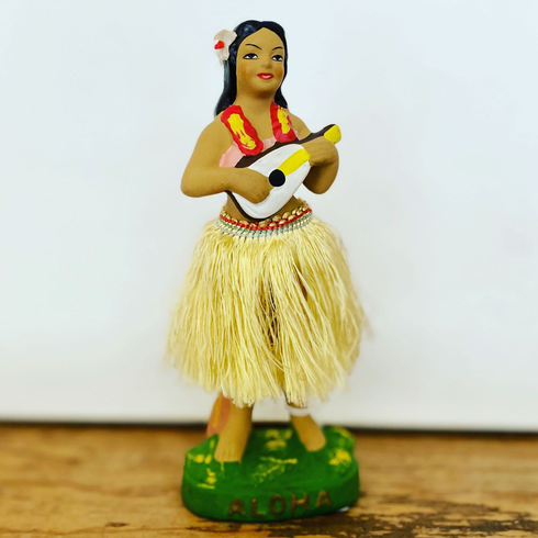 late 1950's Hula Nodder with Yellow Skirt