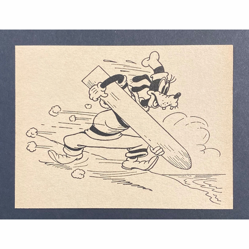 Goofy with Surfboard circa 1940 #10