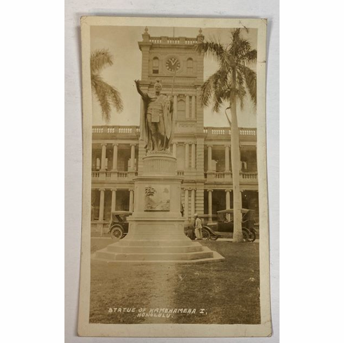 circa 1920s Photo of King KamehaMeha Statue,Honolulu