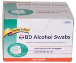 BD Alcohol Swabs - Box of 100