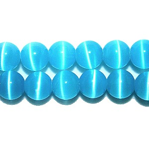 Turquoise Blue Cats Eye Beads (4mm)