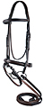 Marcel Toulouse Raised Eventing Bridle with Soft Touch Rubber Reins